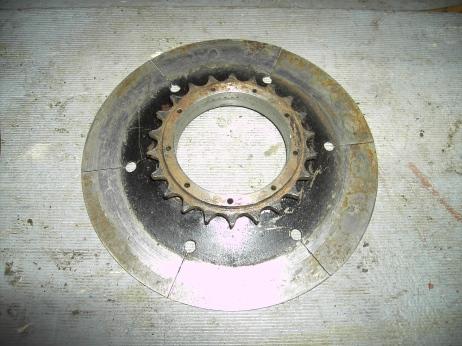 Flywheel Pressure Plate and Sprocket